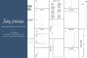 Updated! Editable Blogging Journal ✎