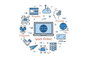 Work Online and Teamwork in Internet