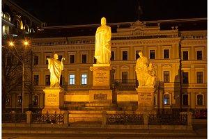 Statues of saints Andrey, Olga, Kirilo and Mefodiy