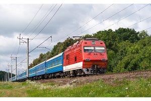 Ukrainian passenger train