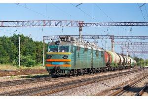 Freight train with liquid cargo in Ukraine