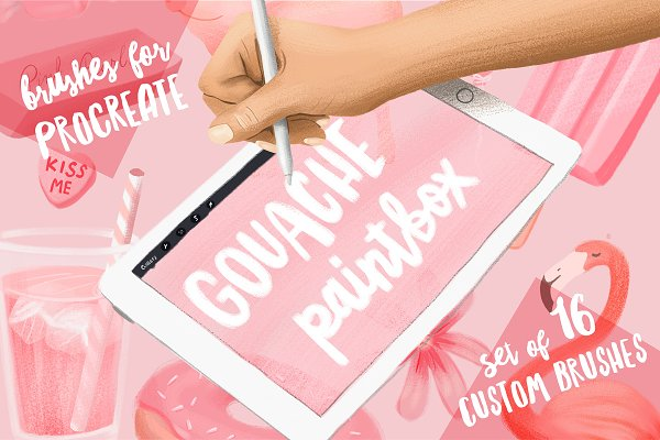 Gouache Paintbox for Procreate