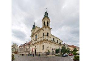Saint Francis church in Warsaw, Poland