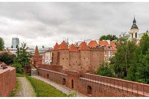 View of Warsaw Barbican - Poland