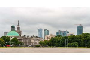 Pilsudski Square in Warsaw, Poland