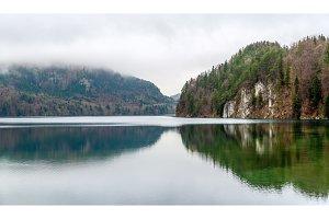 Alpsee lake in Hohenschwangau - Bavaria, Germany