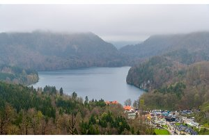 View of Alpsee lake - Bavarian Alps, Germany