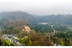 View of Hohenschwangau Castle in Bavarian Alps, Germany