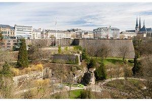 View of Place de la constitution - Luxembourg city