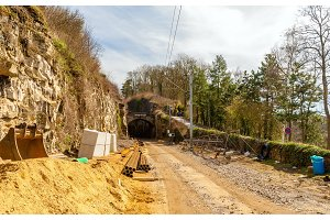 Construction of a railway in Luxembourg city