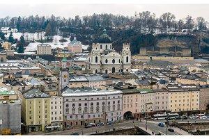 View of Kollegienkirche in Salzburg, Austria