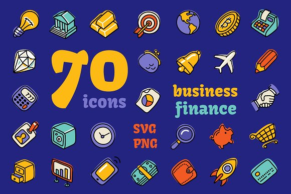 Business&Finance Hand Drawn Icons
