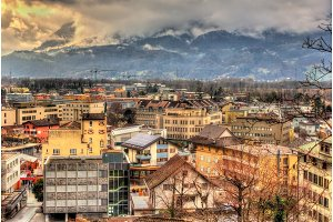 View of in Vaduz, the capital of Liechtenstein