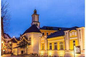 Marktplatz square with St. John's Church in Feldkirch - Austria