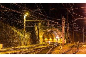 Schattenburg railway tunnel in Feldkirch - Austria