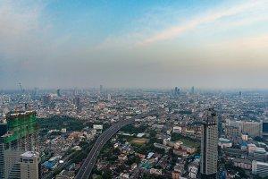 Aerial urban panorama