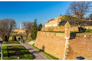 View of the Fortress in Kalemegdan Park - Belgrade, Serbia