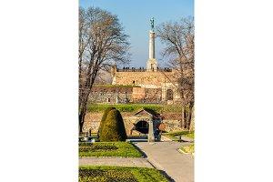 View of Kalemegdan Park in Belgrade - Serbia