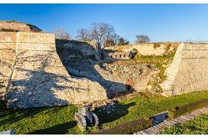 Defensive walls of Belgrade Fortress in Serbia