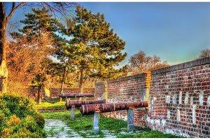 Ancient cannons at Belgrade Fortress - Serbia