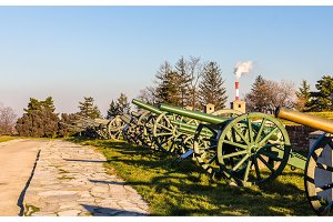 Exposition of cannons at Belgrade Fortress - Serbia