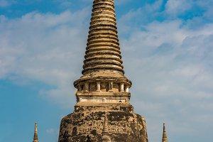 Ancient ruins of Wat Phra Si Sanphet temple