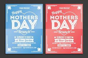 Mothers Day Brunch Flyer Poster