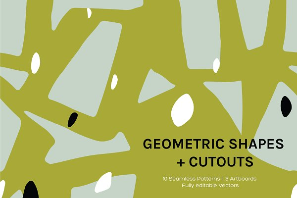 Patterns - Geo Cutouts | Artboards + Patterns