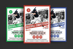 Baseball Competition Poster Flyer