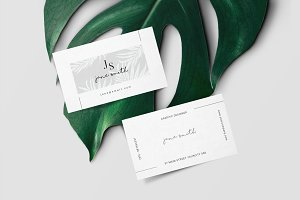 Minimal Tropical Business Card