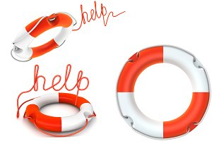 Lifebuoy Isolated on white