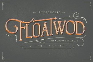 Floatwod Typeface THIN-BOLD-OUTLINE