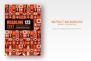 Abstract Background Template A4