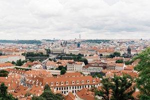 Cityscape of Prague from Mala Strana