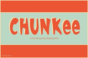 Chunkee Quirky Display Font Typeface