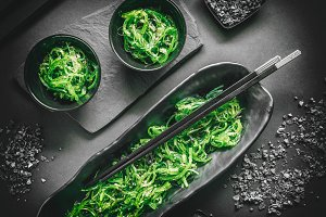Healthy seaweed salad