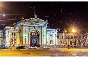 Belgrade Main Railway Station at night - Serbia