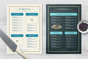 Seafood Menu Templates and Logo