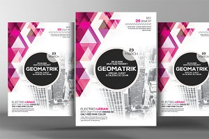 Rosace Geometric Flyer Template