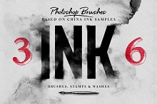 Ink Brushes - Photoshop version by Kim in Brushes