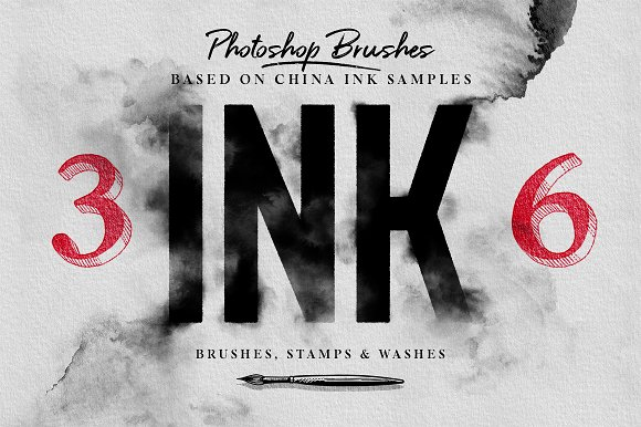 Ink Brushes Photoshop Version