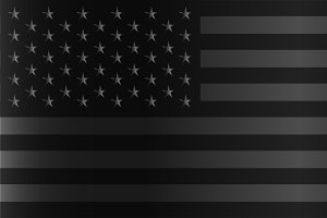 American flag black and silver