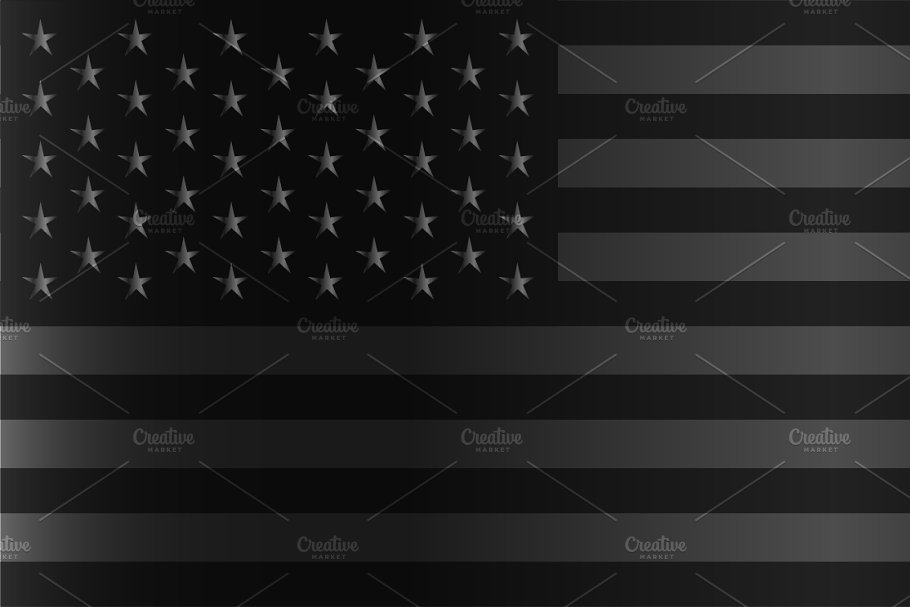American Flag Black And Silver Custom Designed Graphics