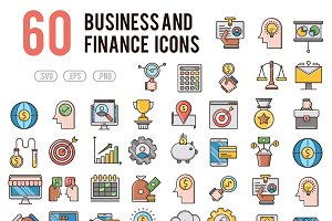 60 Business and Finance icons set