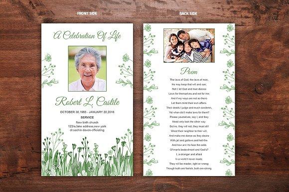 Funeral Prayer Card Template Card Templates Creative Market - Funeral prayer cards templates