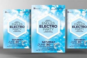 Endless Electro Party Flyer