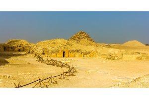 Tombs and pyramids at Saqqara - Egypt