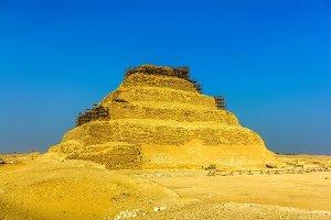 The Step Pyramid of Djoser at Saqqara - Egypt