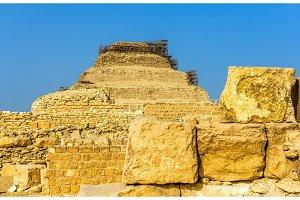 View of the Step Pyramid of Djoser at Saqqara - Egypt