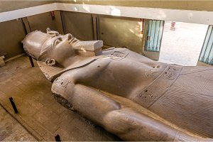 The Statue of Ramesses II (3200 year old) in Memphis - Egypt